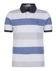 Original Penguin Men's Tenisi Stripe Polo Shirt - Bright White