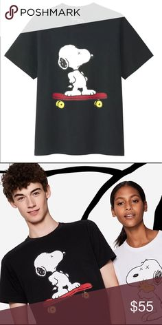 d47b393be Uniqlo Kaws x Peanuts T-shirt Authentic Uniqlo Kaws x Peanuts Snoopy on  skateboard t