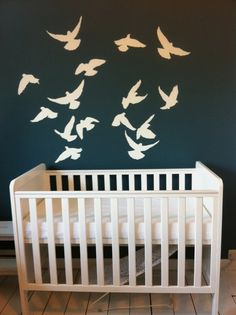 If we had room for a nursery, and I did cots, I'd so do this, it's beautiful and simple.