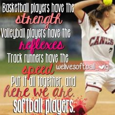 Softball quotes The thought of sport is a process that emerges with the existence of Softball Chants, Softball Memes, Baseball Quotes, Softball Players, Girls Softball, Fastpitch Softball, Softball Stuff, Softball Sayings, Softball Problems