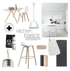 """""""kitchen: basics"""" by littlemissapple1 ❤ liked on Polyvore featuring interior, interiors, interior design, home, home decor, interior decorating, HAY, Nicolas Vahé, Bloomingville and Beacon"""