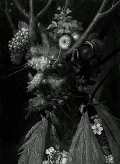 Four Seasons in One Head is an Oil on Canvas Painting created by Giuseppe Arcimboldo in It lives at the National Gallery of Art, Washington in the United States. The image is in the Public Domain, and tagged Portraits, Flowers, Fruit and The Four Seasons. Giuseppe Arcimboldo, National Gallery Of Art, Italian Painters, Italian Artist, Painting Prints, Fine Art Prints, Canvas Prints, Art Paintings, A4 Poster