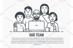 Our team template by SkyVectors on @creativemarket