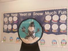Snowman Snowglobe - January Bulletin Board