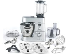 The complete Kenwood Chef stand mixer and cooking machine with all accessories including a blender attachment!