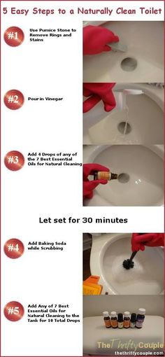 Remove toilet ring stains...