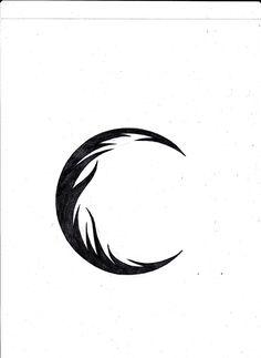 Again Tribal Moon Tattoo Design