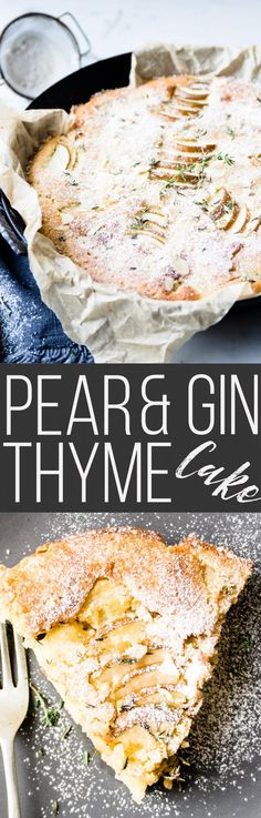 Pear Thyme and Gin Cake via @saltedmint1