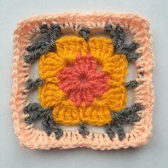 Madelief granny square (link to pattern)* ༺✿ƬⱤღ  http://www.pinterest.com/teretegui/✿༻
