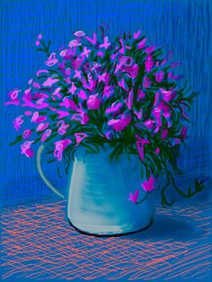 (UK) iPad digital work by David Hockney ). David Hockney Ipad, David Hockney Art, David Hockney Paintings, Pop Art Movement, Ipad Art, Foto Art, Art Graphique, Flower Art, Art Photography