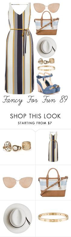 """""""Fancy For Fun 89"""" by megan-walz21 ❤ liked on Polyvore featuring Oasis, Cutler and Gross, Brahmin, Calypso Private Label, Cartier and Jimmy Choo"""