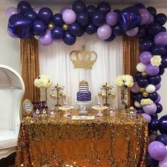 23 Creative Baby Shower Themes for Girls 2019 Royal Purple Baby Shower Theme The post 23 Creative Baby Shower Themes for Girls 2019 appeared first on Baby Shower Diy. Royalty Baby Shower Theme, Baby Girl Shower Themes, Baby Shower Princess, Baby Boy Shower, Baby Girl Babyshower Themes, Deco Ballon, Princess Balloons, Baby Shower Purple, Purple Baby Shower Decorations