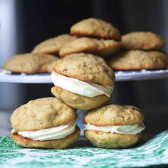 Zucchini Whoopie pies filled with Lemon Buttercream