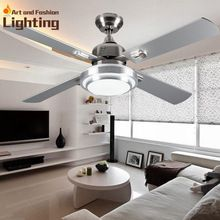 Super Quiet Ceiling Fan Lights Large 52 Inches Modern Lamp Living Room Bedroom Dining