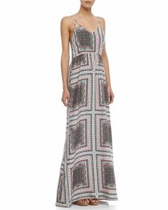 Kisa Scarf-Print Maxi Dress by Parker at Neiman Marcus.