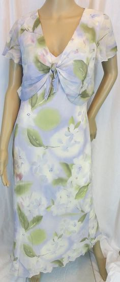 """LIZ CLAIBORNE"" FLORAL PATTERN DRESS - PLEASE SEE ALL PICTURES #LIZCLAIBORNE"
