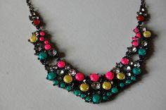 My take on neon Tom Binns jewelry. #fashion #DIY