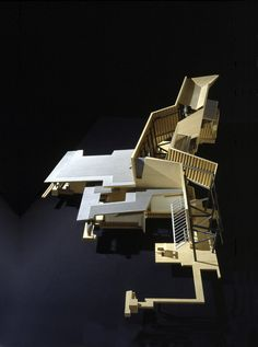 Model of the circulation and mechanical corridor. Image © Patkau Architects / James Dow