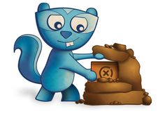 Opie, the awesome geocaching chipmunk.>>its the little dude from the bundle!