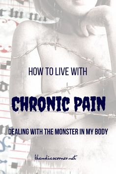 How to live with chronic pain - dealing with the monster in my body.Pain is a necessary form of protection against injuries and diseases.Pain alerts us . Health Anxiety, Mental Health, Fibromyalgia Pain, Chronic Pain, Chronic Fatigue, Chronic Illness, Stress Relief Exercises, Back Injury