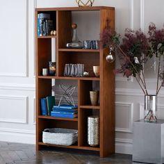 Rectangle Cutout Bookcase - Pecan @ WEST ELM $350.00.