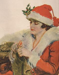 1917 World War One Art Print Mrs Santa Claus by OldPaperAndPages, $12.85