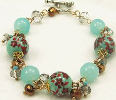 Handmade charming blue flower beads  http://www.eozy.com/european-beads