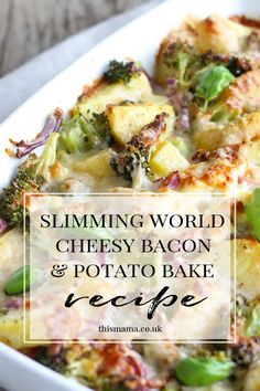 Super easy syn free cheesy bacon potato bake slimmingworld slimmingworldrecipe synfree synfreerecipe ultimate decks for outdoor living Slimming World Dinners, Slimming World Chicken Recipes, Slimming World Syns, Slimming Eats, Slimming Recipes, Slimming World Breakfast, Slimming World Lunch Ideas, Slow Cooker Slimming World, Slimming World Puddings
