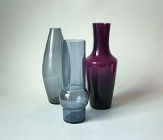 Vintage Mid Century Modern Vasenset Glas Vase von LeKosmosBerlin