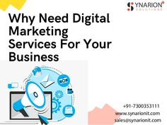 Synarion IT is a leading digital marketing agency that focuses on growing your business successfully with online marketing services. Online Marketing Services, Online Digital Marketing, Growing Your Business, Success, Ideas, Thoughts