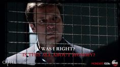 """Was I right? Is this all about Mommy?"" Castle to 3XK, Castle TV show quotes"