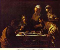 Caravaggio. Supper at Emmaus. 1606. Oil on canvas. Galleria Brera, Milan, Italy