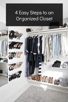 Organize your closet in 4 easy steps - www.lovelucygirl.com #organize #closet #style