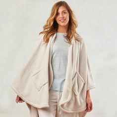 WIN a Cozy Wrap Blanket with Pockets from Berkshire Blanket!  This is the ultimate in softness.  You won't want to take it off!  Available in SIX colors.  Follow us and save/repin to win!