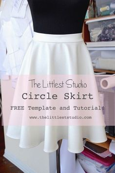 Circle skirt - free template and tutorial. Easy Sewing Projects, Sewing Projects For Beginners, Sewing Hacks, Sewing Tutorials, Sewing Tips, Sewing Crafts, Sewing Ideas, Sewing Art, Dress Tutorials