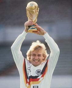 Jurgen Klinsmann, 1990 World Cup winner, during a publicity photo shoot. He is now the US Men's coach.
