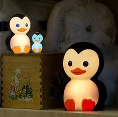 Penguin baby night lights that change colors for a baby boy or girl nursery make sweet gifts