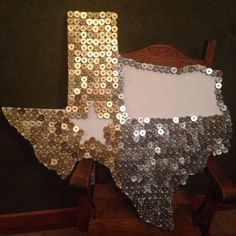 DIY shotgun shell casing covered Texas. So much fun and actually pretty easy