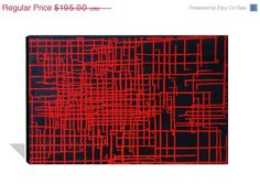 PAINTING SALE 20% off Large Abstract Painting Red and Black Painting Contemporary Original Abstract Painting on Canvas Modern Wall Art 36x2. $156.00, via Etsy.