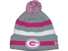 lowest price 9101c 8ffa7 Green Bay Packers NFL Breast Cancer Awareness Knit Cap Hats New Era Beanie, Nfl  Packers