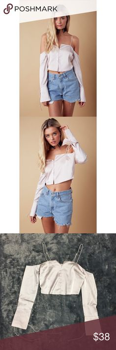 Daydream Satin Crop Top New with tags and in packaging | boutique brand | Lined | 97% polyester 3% spandex | Tops Crop Tops