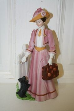 1983 AVON President's Club Albee Award lady in pink porcelain figurine MINT $22.50