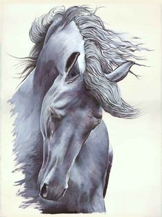 White Horse Painting for sale.
