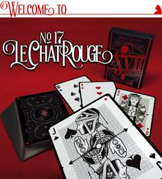 """No.17 """"Le Chat Rouge"""" - Poker Size Playing Cards by Requiem Team — Kickstarter"""