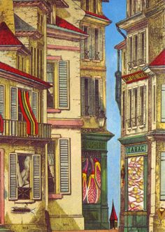 magictransistor: Max-Ernst. Commonplaces, Where to Unwind the Spool. 1971.