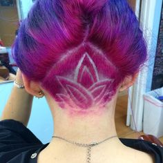 Lovely and Beautiful Hair Tattoos picture 1 Undercut Hairstyles Women, Pretty Hairstyles, Undercut Women, Hairstyle Ideas, Female Undercut, Wedding Hairstyles, Nape Undercut Designs, Shaved Undercut, Shaved Nape