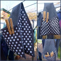 clothespin bag so cut Fabric Crafts, Sewing Crafts, Sewing Projects, Sewing Toys, Clothes Line, Diy Clothes, Clothespin Bag, Clothespin Crafts, Peg Bag