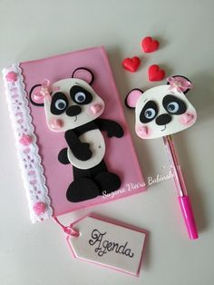 Agenda e ponteira em Eva tema Panda Foam Crafts, Diy Arts And Crafts, Diy Crafts, Merry Christmas Happy Holidays, Kids Christmas, Diy For Kids, Crafts For Kids, Diy Paper, Paper Crafts