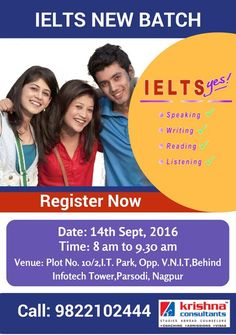 Join #IELTS Coaching at Krishna Consultants. Learn English from professionals.