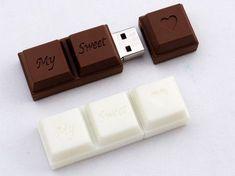 Chocolate USB Flash Drive  Unusual flash memory stick designed to look like a chocolate bar.